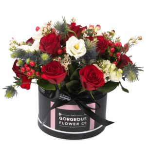 Gorgeous Red Flower Hatbox