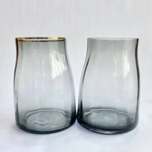Grey Glass Vase