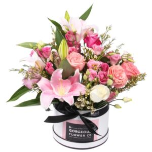 Gorgeous Pink Flower Hatbox