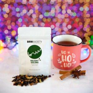 Christmas tea in a mug