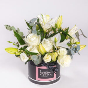 Gorgeous Rose & Lily Hat Box