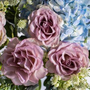 Blue Hydrangea & Lisianthus