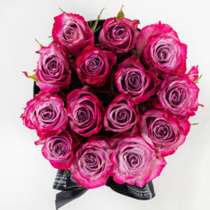 Deep Purple Roses Hatbox