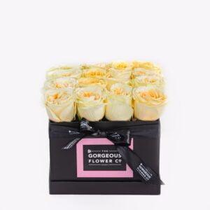 Cream Rose Square Box