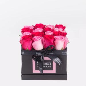 Mix Pink Rose Square Box