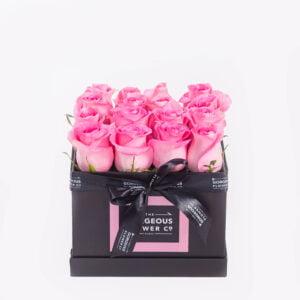 Pink Rose Square Box