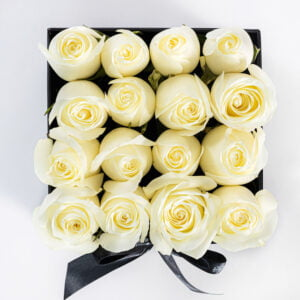 White Rose Square Box